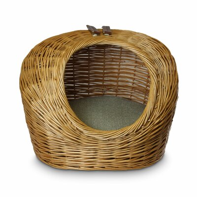 Luxury Wicker Double Decker Herringbone Cat Basket and Bed