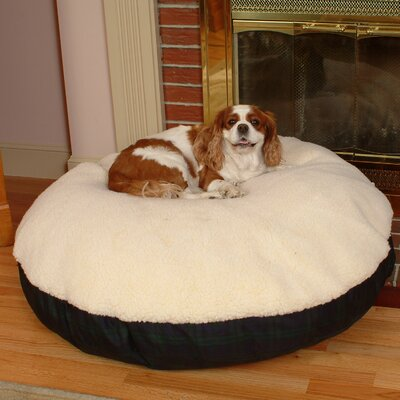 Snoozer Round Pet Bed with Sherpa Top