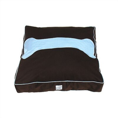 Eloise Inc. Chocolate Blues Hampton Twill Dog Bed