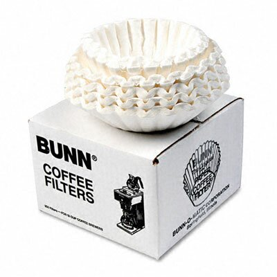Bunn Flat Bottom Coffee Filters, 250 Filters/Pack