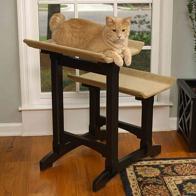 Mr. Herzher's Craftsman Series Double Seat Wooden Cat Perch
