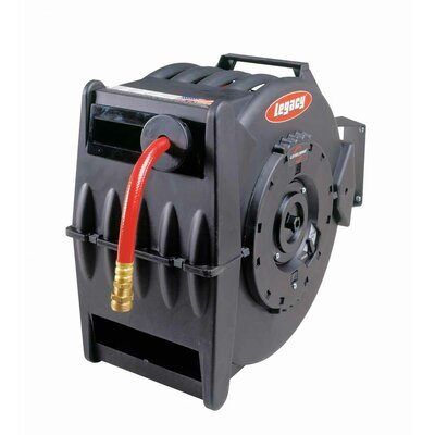 Legacy MFG Levelwind Retractable Hose Reel for Air or Water with 1/2 in. ID x 50 ft. Hose