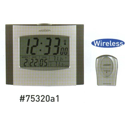 Wireless Atomix Clock / Thermometer with Sensor