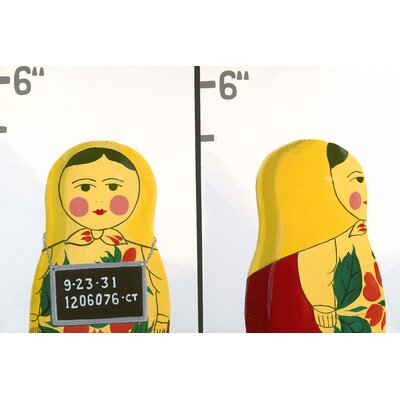emma at home by Emma Gardner Matryoshka Mug Shot Giclee Painting Print on Canvas