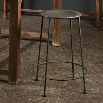 CG Sparks Iron Counter Stool in Zinc
