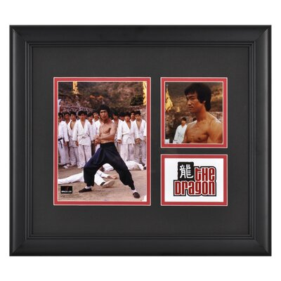 "Mounted Memories Bruce Lee ""The Dragon"" II Framed Presentation with Two Photos - 15"" X 17"""