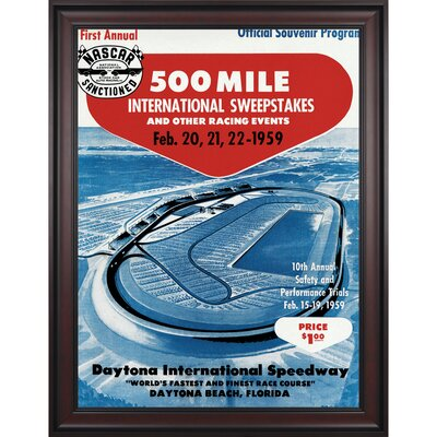 Mounted Memories NASCAR Framed 36&quot; x 48&quot; Daytona 500 Program Print