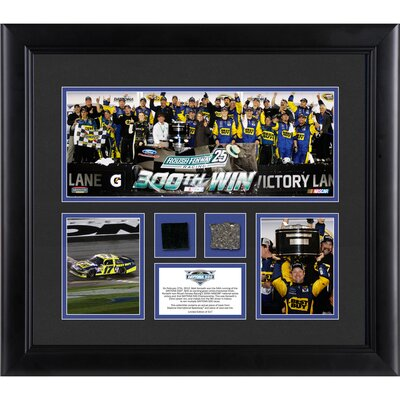 Mounted Memories NASCAR 2012 Daytona 500 Champion Framed 3 Photo Collage with Race-Used Tire and Track