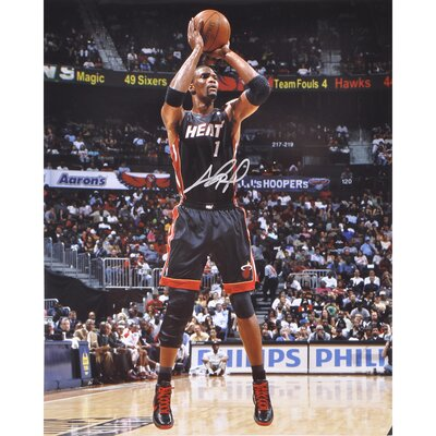 Mounted Memories Chris Bosh Miami Heat Autographed Photograph