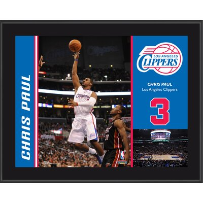 Mounted Memories Chris Paul Los Angeles Clippers Sublimated Player Photo Plaque