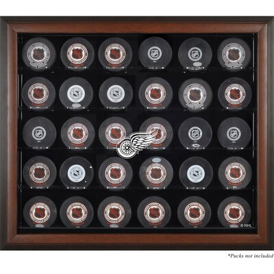 Mounted Memories 30 Hockey Puck Logo Display Case