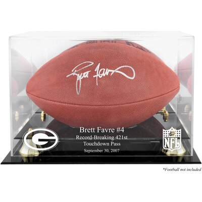 Mounted Memories NFL Brett Favre 421st TD Record-Breaker Football Logo Display Case