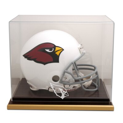 NFL Wood Base Helmet Logo Display Case