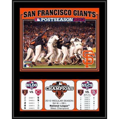 Mounted Memories MLB San Francisco Giants 2012 National League Champions Sublimated Plaque