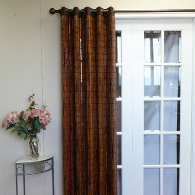 Versailles Home Fashions Bamboo Grommet Top Curtain Single Panel