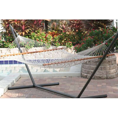Smart Garden Cancun Premium Two Person Rope Hammock with Stand