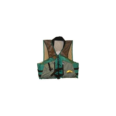 COD Paddlesports LLC Fishing Life XXL Adult Vest in Green / Grey