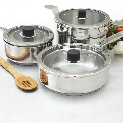 Natural Home Eazistore Stainless Steel 10-Piece Cookware Set