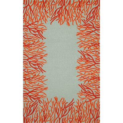 Liora Manne Spello Orange Coral Border Rug