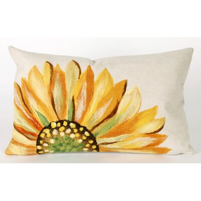 Liora Manne Sunflower Rectangle Indoor/Outdoor Pillow in Yellow