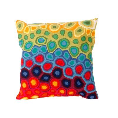 Liora Manne Pop Swirl Square Indoor/Outdoor Pillow