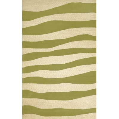 Liora Manne Spello Wavey Stripe Sage Outdoor Rug