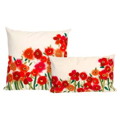 Liora Manne Poppies Rectangle Indoor/Outdoor Pillow