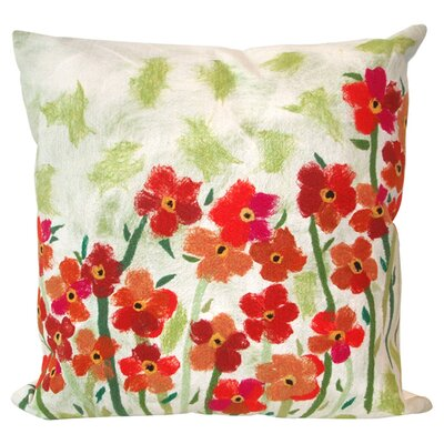 <strong>Liora Manne</strong> Poppies Square Indoor/Outdoor Pillow