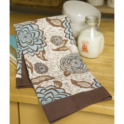 Couleur Nature Dahlia Blue Tea Towel (Set of 3)