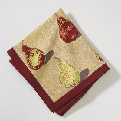 Couleur Nature Poire Taupe Burgundy Napkin (Set of 6)