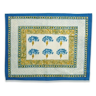 Couleur Nature Bleuet Blue Green Placemat (Set of 6)