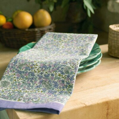 Couleur Nature Lavender Purple Green Tea Towel (Set of 3)