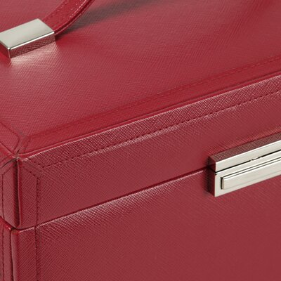Wolf Designs Queen's Court Large Jewelry Case in Crimson