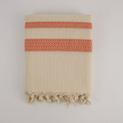 Nine Space Ayrika Bamboo Fouta Towel in Orange