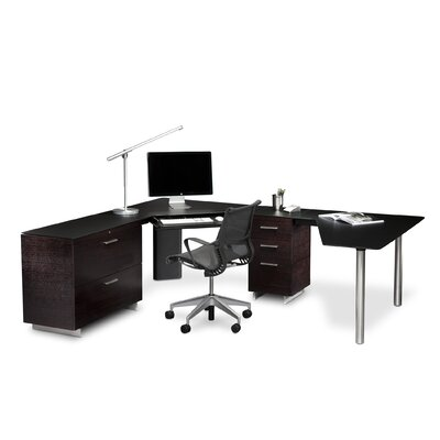 BDI USA Sequel Corner Desk Office L- Shaped Suite