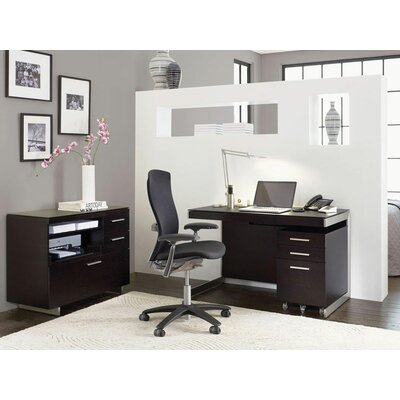 "BDI 29"" Sequel Compact Computer Desk with File Cabinet"