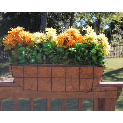 "Griffith Creek Designs Newport Over the Rail Planter for 2"" x 6"" Rail"