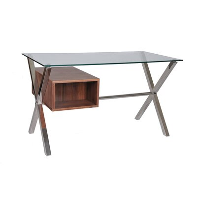 Pangea Home Ella 2 Drawer Writing Desk