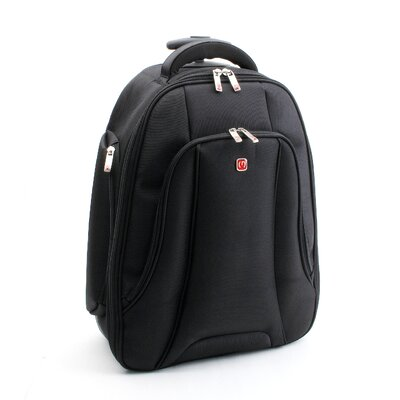 Merax Fly Over Rolling 15.4&quot; Laptop Backpack in Black