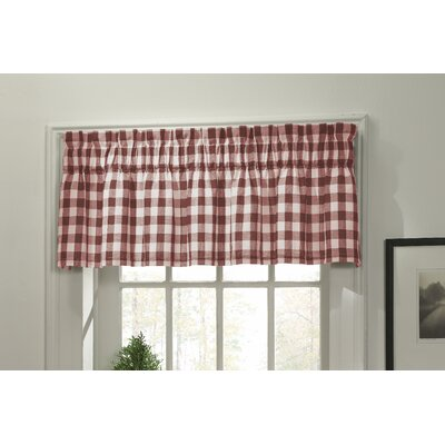 m.style Classic Check Rod Pocket Tailored Valance