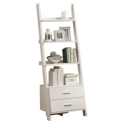 monarch specialties inc ladder 69 39 39 bookcase reviews wayfair. Black Bedroom Furniture Sets. Home Design Ideas