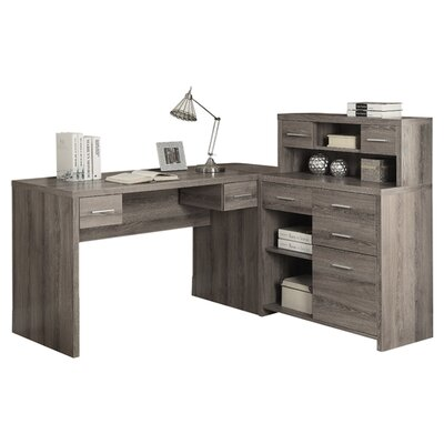 Monarch Specialties Inc Corner Computer Desk With Hutch