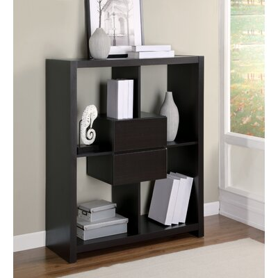"Monarch Specialties Inc. 48"" Hollow-Core Bookcase with Storage Drawers"