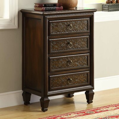 Monarch Specialties Inc. 4 Drawer Bombay Chest
