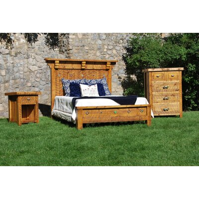 Timber Designs Spanish Trail Panel Bed