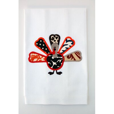 Egyptian Cotton Huck Holiday Applique Turkey Hand Towel