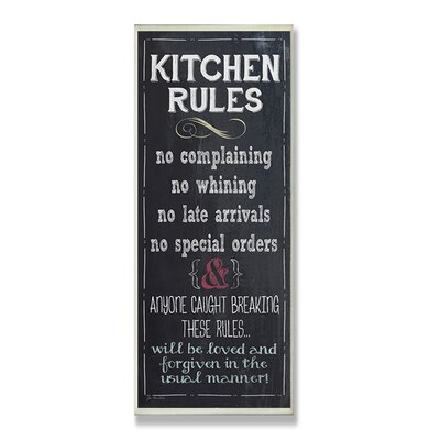 Home Décor Kitchen Rules Chalkboard Look Wall Plaque