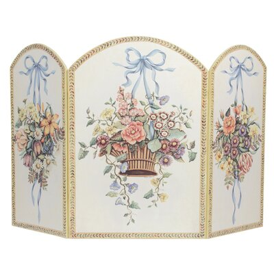 Stupell Industries Hanging Basket 3 Panel MDF Fireplace Screen