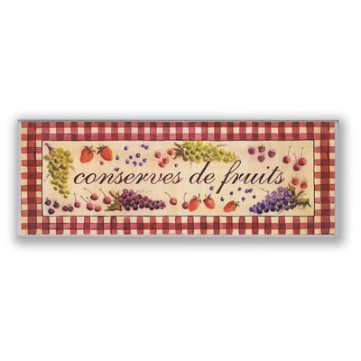 Conserves de Fruits Oversized Kitchen Wall Plaque