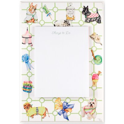 "Stupell Industries Decorative Dog Themed 1' 8"" x 1' 1"" White Board"
